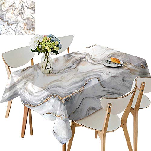 UHOO2018 Polyester Tablecloth Marble Ink Texture Background use for Wallpaper Square/Rectangle Spillproof Tablecloth,50 x109inch