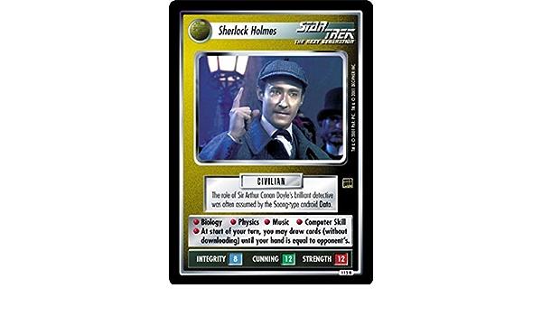 STAR TREK CCG HOLODECK RARE CARD SHERLOCK HOLMES