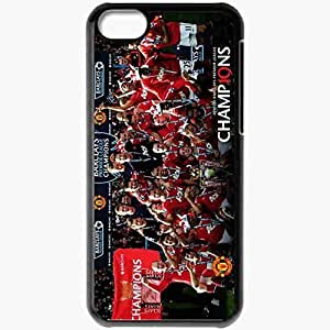 Personalized iPhone 5C Cell phone Case/Cover Skin Football Manchester United Mu Black