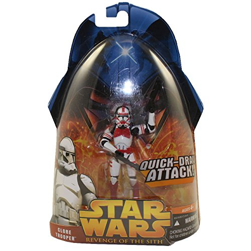 - Star Wars - Revenge of the Sith Clone Trooper (Quick-Draw Attack!) (Red) Shock Trooper