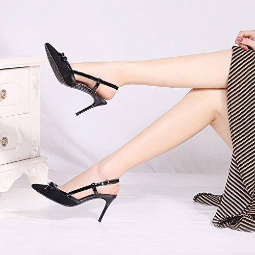 SHOESHAOGE Shago Sandales Avec Un Arc Tirant À Bout Avec Un Noeud À L'Arrière De L'Baotou Chaussures Pour Femmes Couleur unie XsQj5SG
