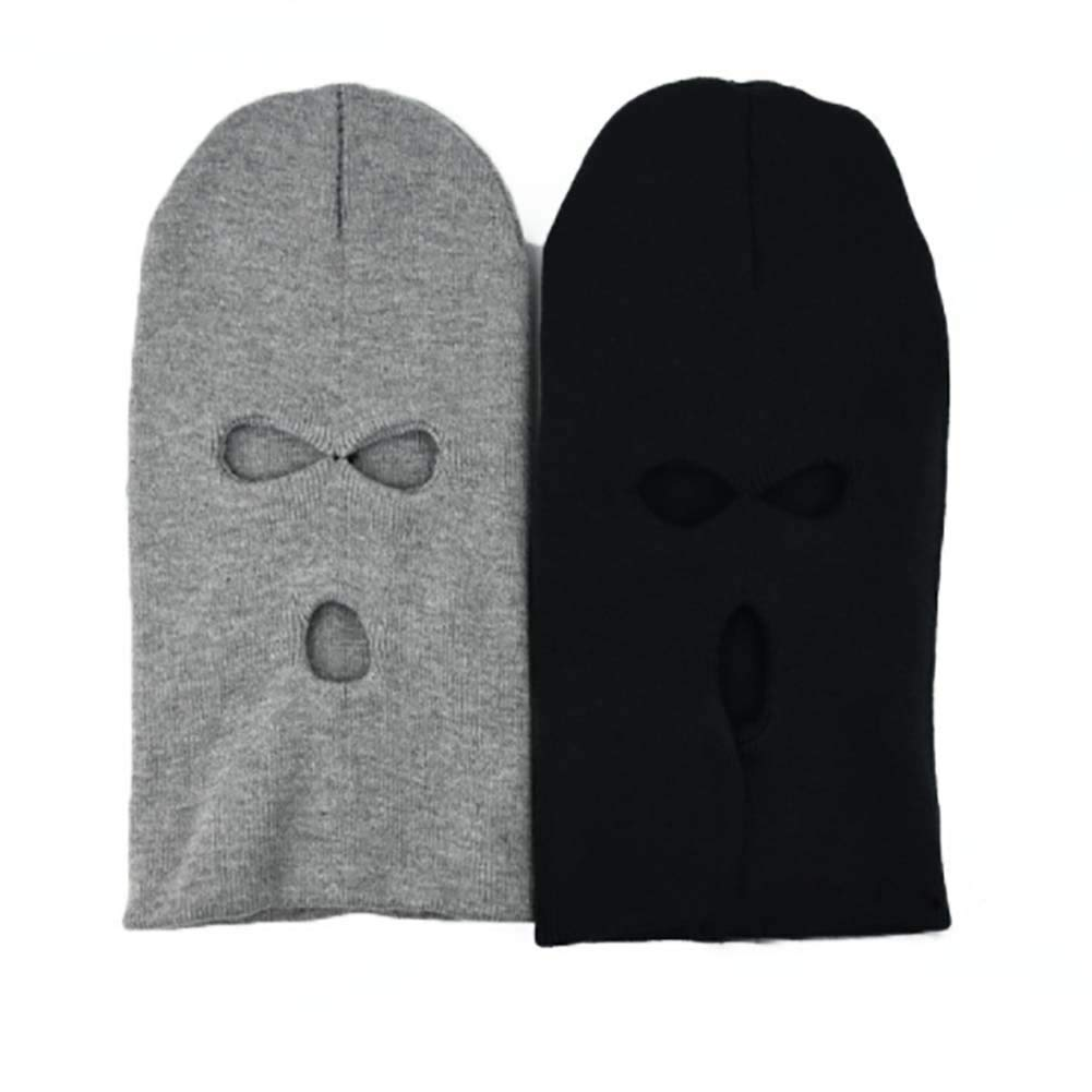 SELUXU Winter Knit Sew Outdoor Full Face Cover Thermal Ski Mask