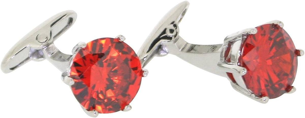 Red Posh and Dandy Mens Crystal Cufflinks