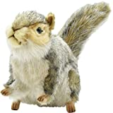 Hansa Sitting Squirrel Plush, Gray