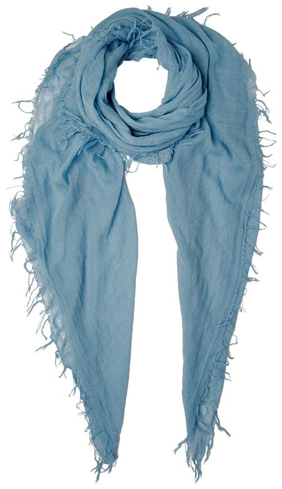 Chan Luu Solid Provence Blue Cashmere and Silk Scarf