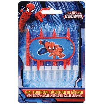 Spiderman Sign & velas - Set de 8: Amazon.es: Hogar