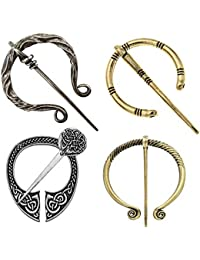 80775ee52 Vintage Viking Brooches Pins, Medieval Cloak Pin Shawl Pin Clasp Penannular  Scarf Cardigan Pin Brooch