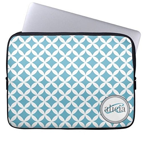 Eratio Name Custom Ocean Blue Nico Print Neoprene Laptop Sleeve 13 Inch MacBook Air Case MacBook Pro Sleeve and 13 Inch Laptop ()