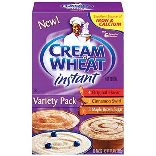 Cream of Wheat, Hot Cereal, Variety Pack, 11.4 Ounce