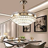 ZPSPZ Ceiling fan Simple Invisible Ceiling Fan, Quiet Living Room, Fashion Invisible Fan Chandelie
