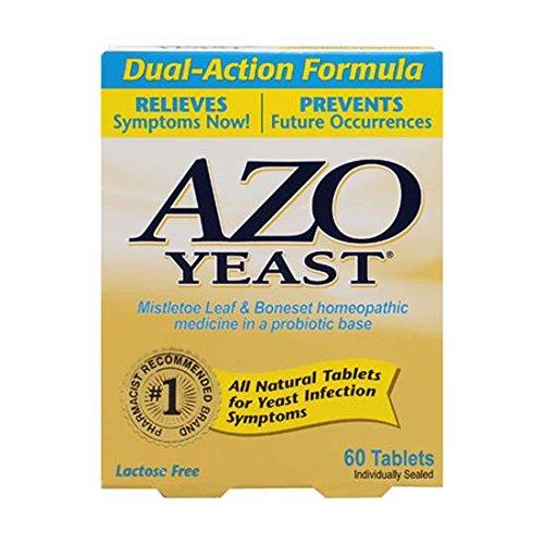 Azo prévention des infections à levures - 60 comprimés, Paquet de 4