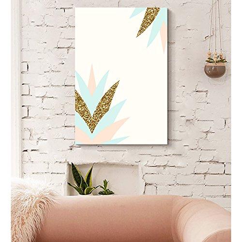 Pastel and Gold Glitter Geometric