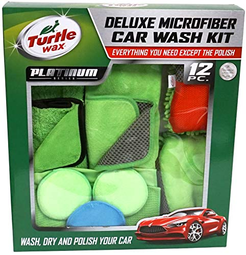 Turtle Wax Car Wash Kit - Deluxe Microfiber Platinum Series - 12 Pieces