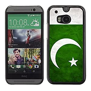 Shell-Star ( National Flag Series-Pakistan ) Snap On Hard Protective Case For All New HTC One (M8)