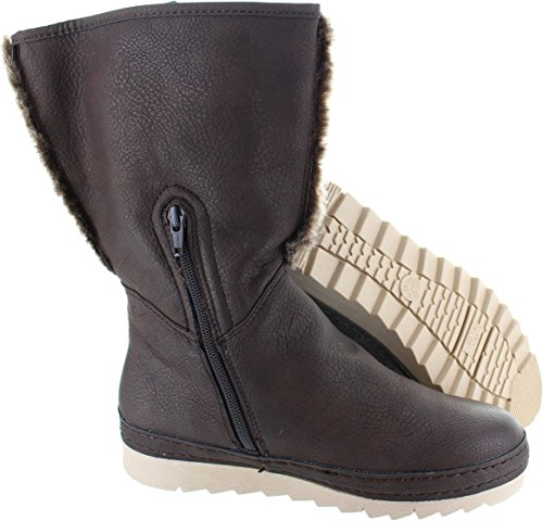 Jana Women's 8-26421-27 304 Synthetic Leather Mid Calf Boots 6P2By6Tg