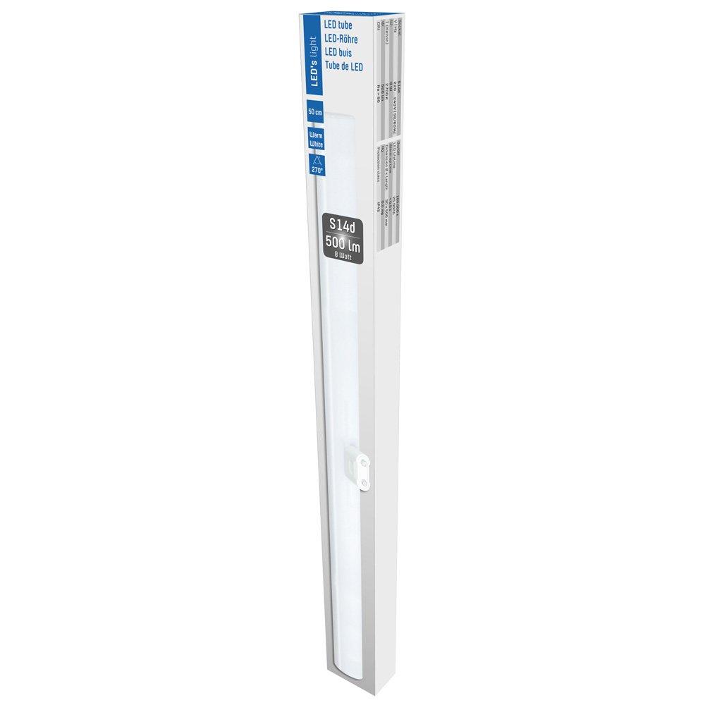 LED Linienlampe 8W = 60W 750lm warmweiß 2700K S14D 1 Sockel Sparlampe 50cm 330°