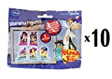 Disney - Phineas & Ferb Diorama Figures Party Favor Blind Suprise Bags x 10