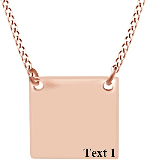 AFFY Personalize Engravable Tree of Life Pendant Necklace in 14k Rose Gold Over Sterling Silver