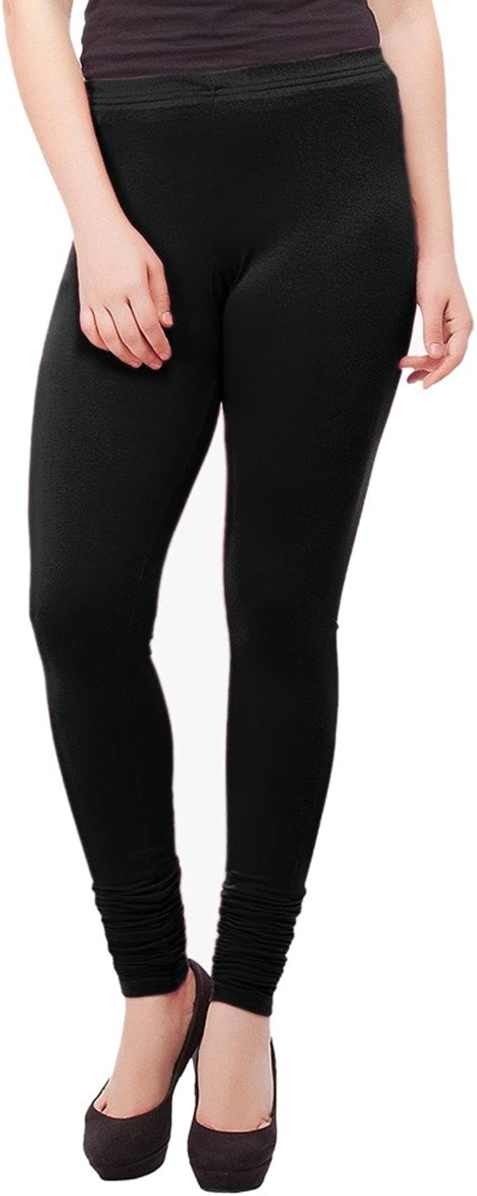 Pack of 6 IndiWeaves Girls Premium Cotton Ankle Length Solid Leggings