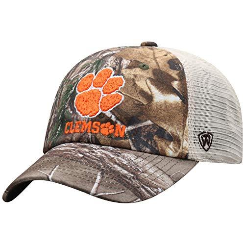 (NCAA Clemson Tigers Men's Camo Stock Adjustable Mesh Icon Hat, Real)