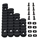 GVN Polymer 5, 7, 9, 11 Slots M-LOK Rail Section Fits M-LOK Hand Guard (Black)