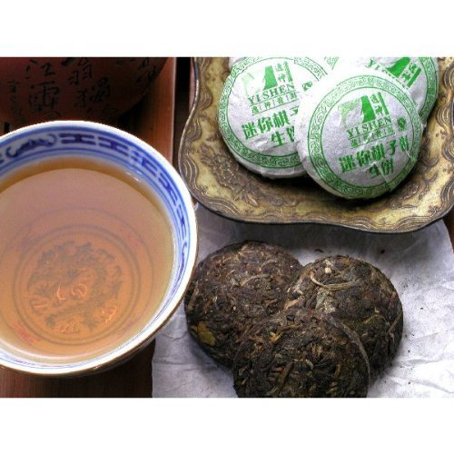 [Pu'er tea] Yat Kamisei mochi (rice cake small tea) 100g [raw tea] by Pu'er tea production