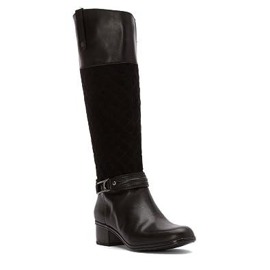 5a5da42d2ca7 Bandolino Women s Cabbey Black Black Leather Boot 5.5 M