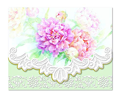 Carol's Rose Garden Peony Mix Blank 10 Card Set - Fine Carol Wilson Arts