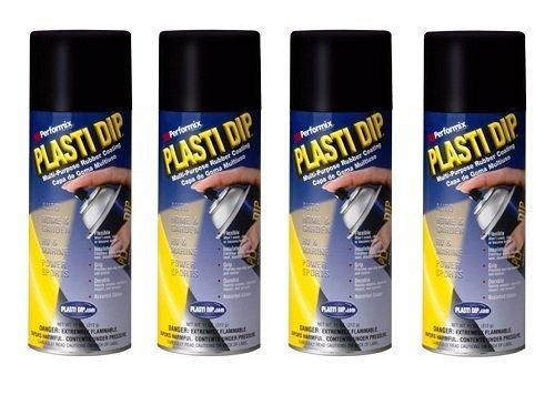 4 PACK PLASTI DIP Mulit-Purpose Rubber Coating Spray BLACK 11oz Aerosol by Plasti Dip