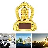 Anauto Tibetan Tibet Buddhist Solar Energy Spinning Prayer Wheel for Car Interior Decoration