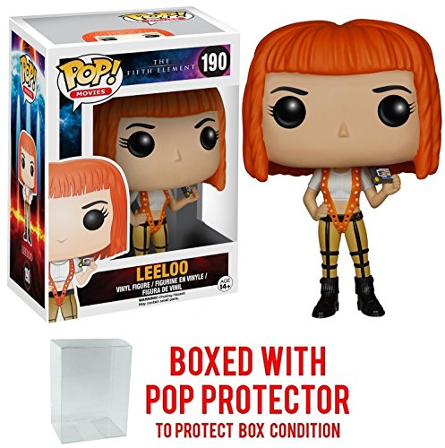 Funko Pop! Movies: The Fifth Element - Leeloo Vinyl Figure (Bundled with Pop BOX PROTECTOR CASE) -