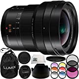 Panasonic Leica DG Vario-Elmarit 8-18mm f/2.8-4 ASPH. Lens 10PC Accessory Bundle – Includes 3PC Filter Kit (UV + CPL + FLD) + 6PC Graduated Filter Kit + MORE