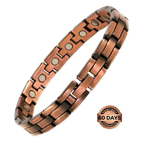 Reevaria Copper Bracelet for Arthritis - Guaranteed 99.9% Pure Copper Magnetic Bracelet for Women with Powerful Magnets for Effective & Natural Relief of Joint Pain, RSI, Carpal Tunnel