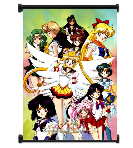 """Sailor Moon Anime Fabric Wall Scroll Poster (16""""x23"""") Inches"""