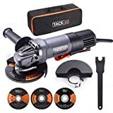 TACKLIFE Angle Grinder 4-1/2-Inch 11A (1300W) 12000RPM High Performance Power Tool with Paddle Switch, 3 Wheels for Grinding/Polishing/Cutting, 2 Wheel Guards, 1 Carrying Bag | P3AG115