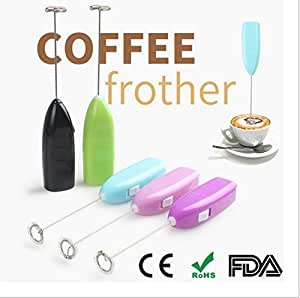JCare 2Pack Mini Egg Stiring Household Hand-held Electric Mixer Milk Mixer Coffee Bar Whisk Kitchen Gadgets(At Random Color)