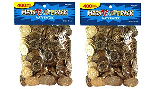 Novelty Amscan Plastic Gold Coins Value Pack - Value 800 Ct]()