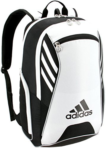 adidas Tour Tennis Racquet Backpack, Black/White/Silver, One Size from adidas