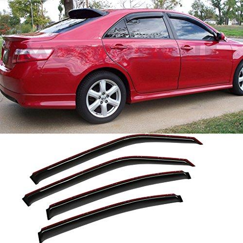 VioletLisa 4pcs Dark Smoke Outside Moun Style Sun Rain Guard Vent Shade Window Visors Fit 06-10 Dodge Charger