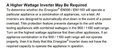 ENERGIZER-1100-Watt-Power-Inverter-converts-12V-DC-from-cars-battery-to-120-Volt-AC-with-2-USB-ports-21A-shared-compatible-with-iPad-iPhone