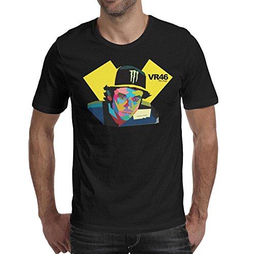 Hndasny Men's t Shirts Vintage Music Short Sleeve Italian Motorcycle Valentino tee Shirt