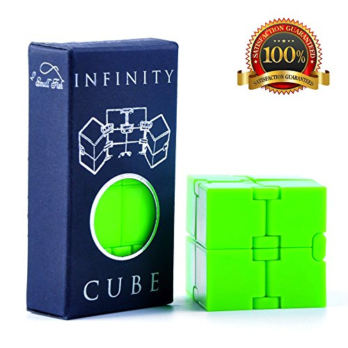 Infinity Cube Fidget Toy, Luxury EDC Fidgeting Game for Kids and Adults, Cool Mini Gadget Best for Stress and Anxiety Relief and Kill Time, Unique Idea that is Light on the Fingers and Hands