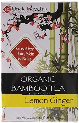 Uncle Lee's Tea Organic Tea, Bamboo Lemon Ginger, 18 Count