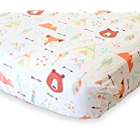 100% Organic Cotton Fitted Crib Sheet by ADDISON BELLE - Premium Baby Bedding...