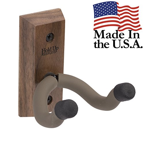 Hold Up Displays - Vertical Gun Hanger and Rifle Storage Securely Holds Firearm and Bow - Real Walnut Hardwood Harvested in Wisconsin - Made in USA