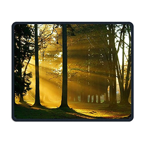 (Mouse Pad Sunset Sunlight Throw Forest Rectangle Non-Slip 9.8in11.8 in Personalized Designs Gaming Rubber Mousepad Stitched Edges Mouse Mat)