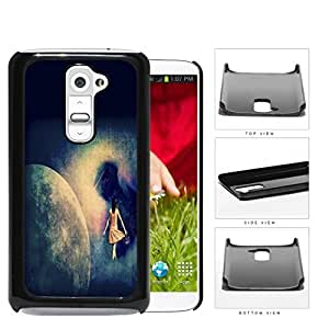 Lost Girl Wandering In Abstract Space Grunge Hard Plastic Snap On Cell Phone Case LG G2