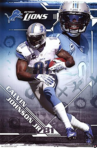 Calvin Johnson Jr. Detroit Lions NFL Sports Poster