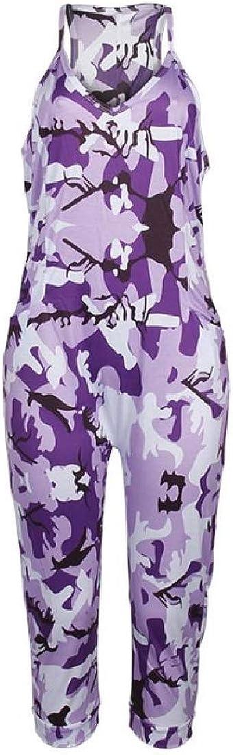 Losait Womens V Neck Sleeveless Cami Racerback Tenths Pants Jumpsuits Romper