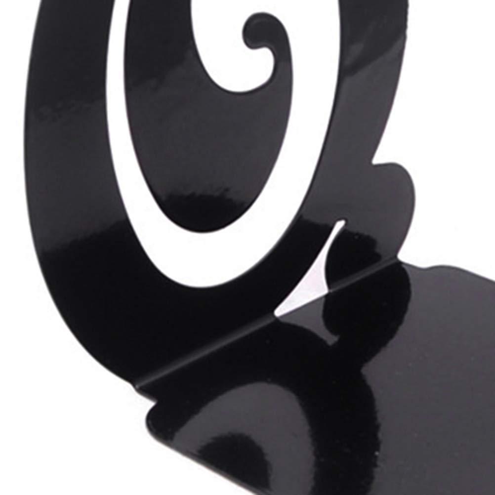 schwarz NUOBESTY Ein Paar Musiknoten Form Buchst/ützen Metall Buchst/ützen Unterst/ützung Buch Stopper f/ür Papiere Zeitschriften B/ücher Sotrage